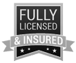 Licensed and insured emblem
