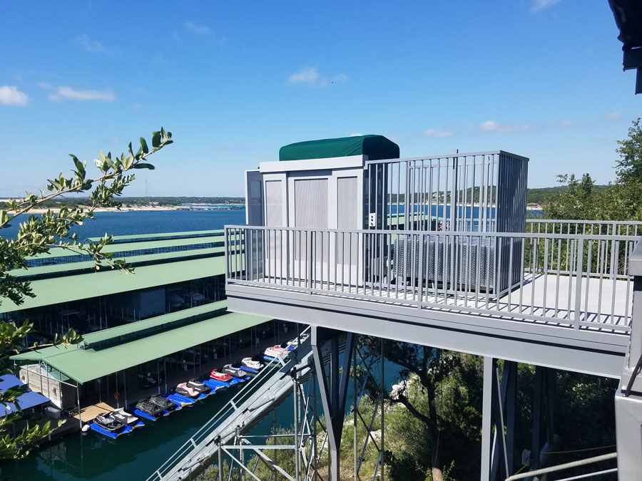 Marine Innovations Commercial Marina Inclined Elevator System