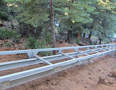 Marine Innovations Proprietary I-Beam tram track system